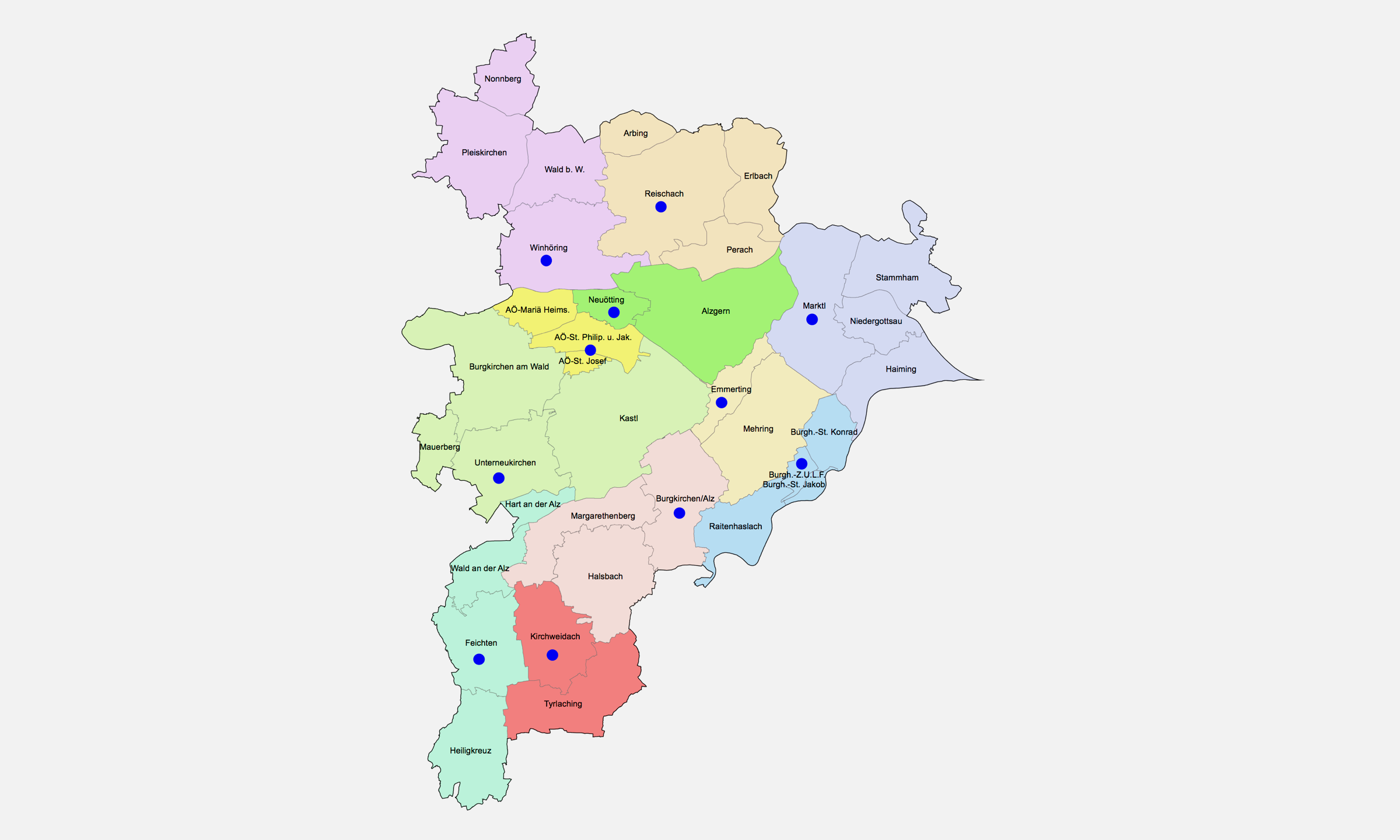 2019 Bistum Pfarreien Dekanate Altoetting