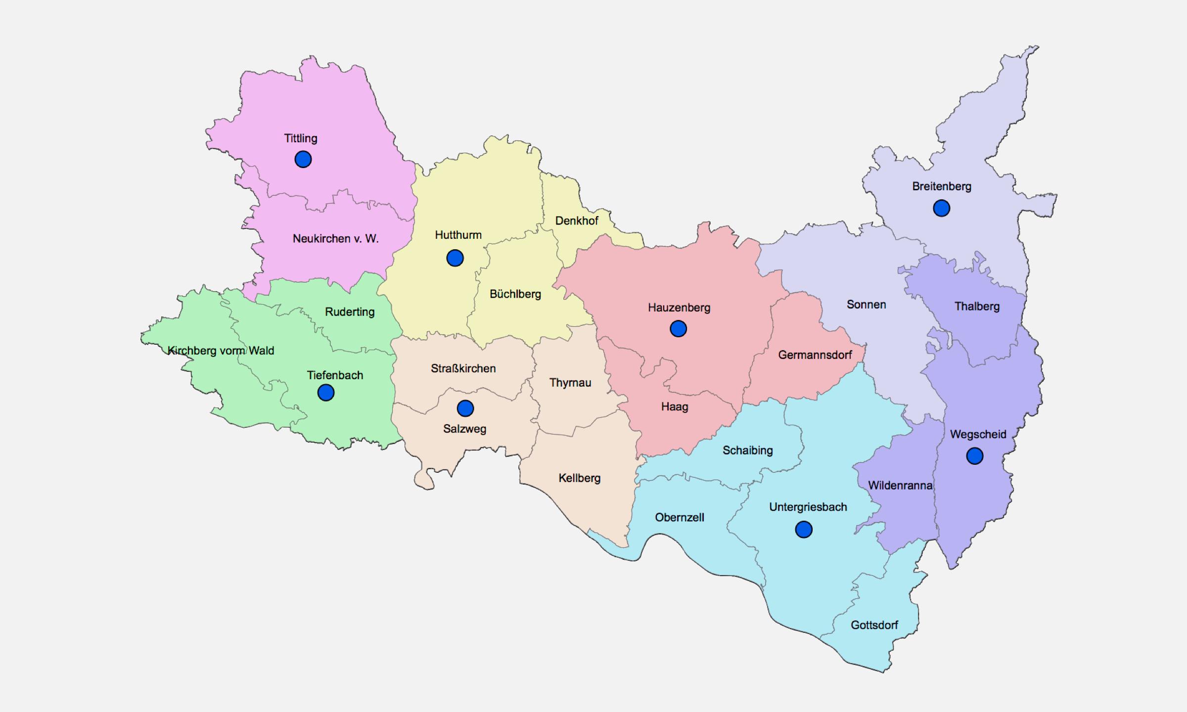 2019 Bistum Pfarreien Dekanate Hauzenberg