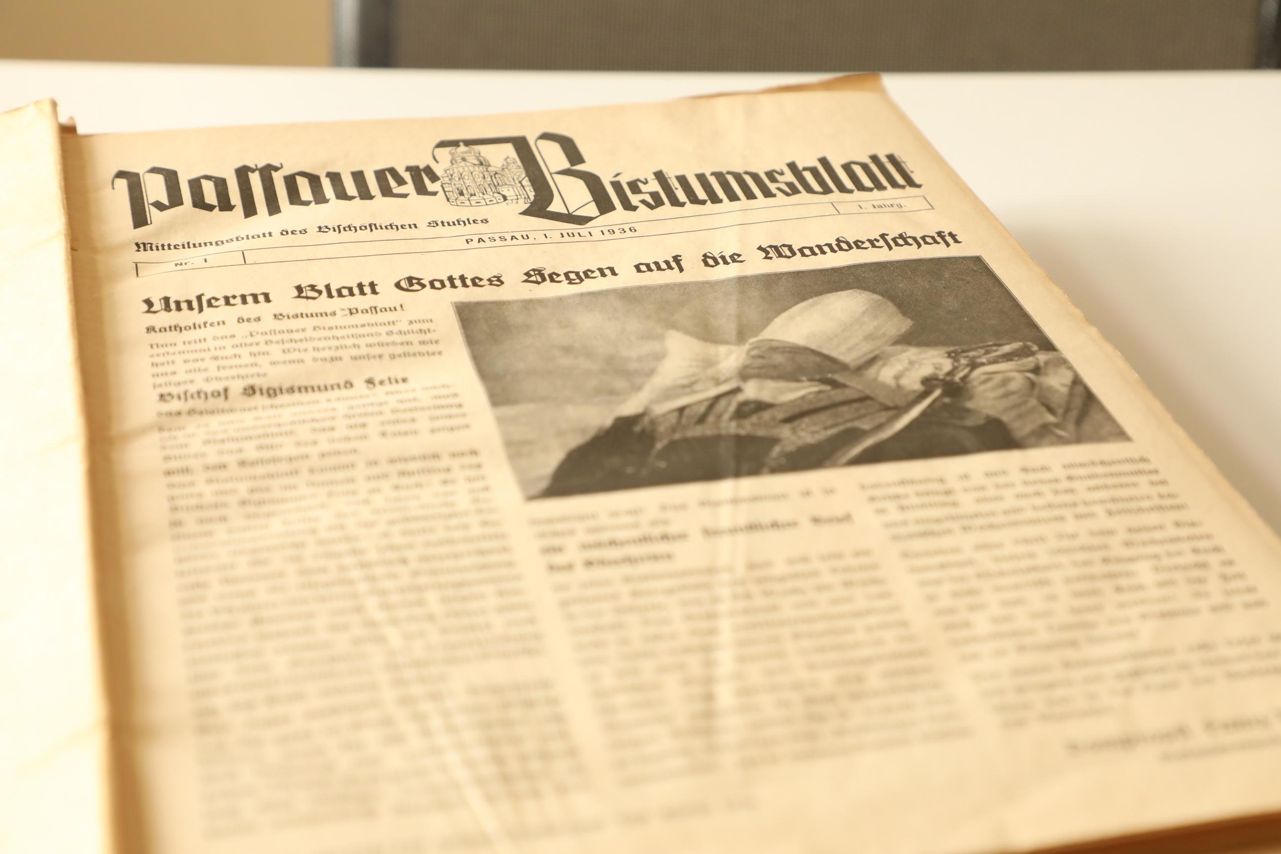 2019 Geschichte Archiv Bistumsblatt Erste Ausgabe