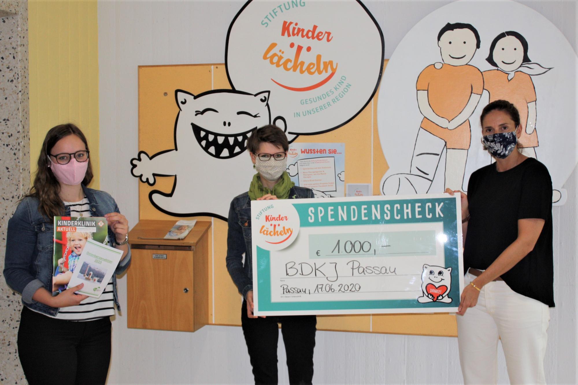 2020 06 18 BDKJ Passau spendet 1000 Euro an Stiftung Kinderlächeln