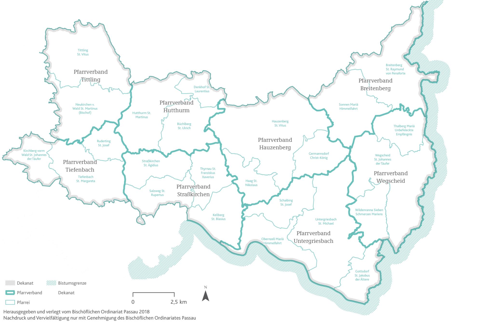 2021 Bistum Pfarreien Dekanate Hauzenberg