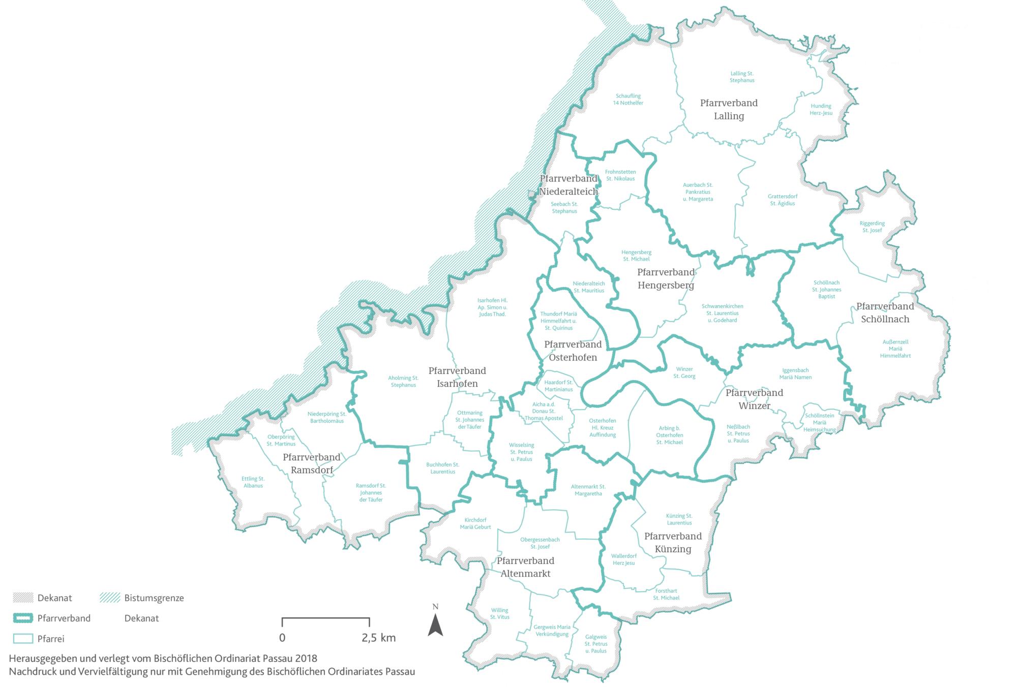 2021 Bistum Pfarreien Dekanate Osterhofen