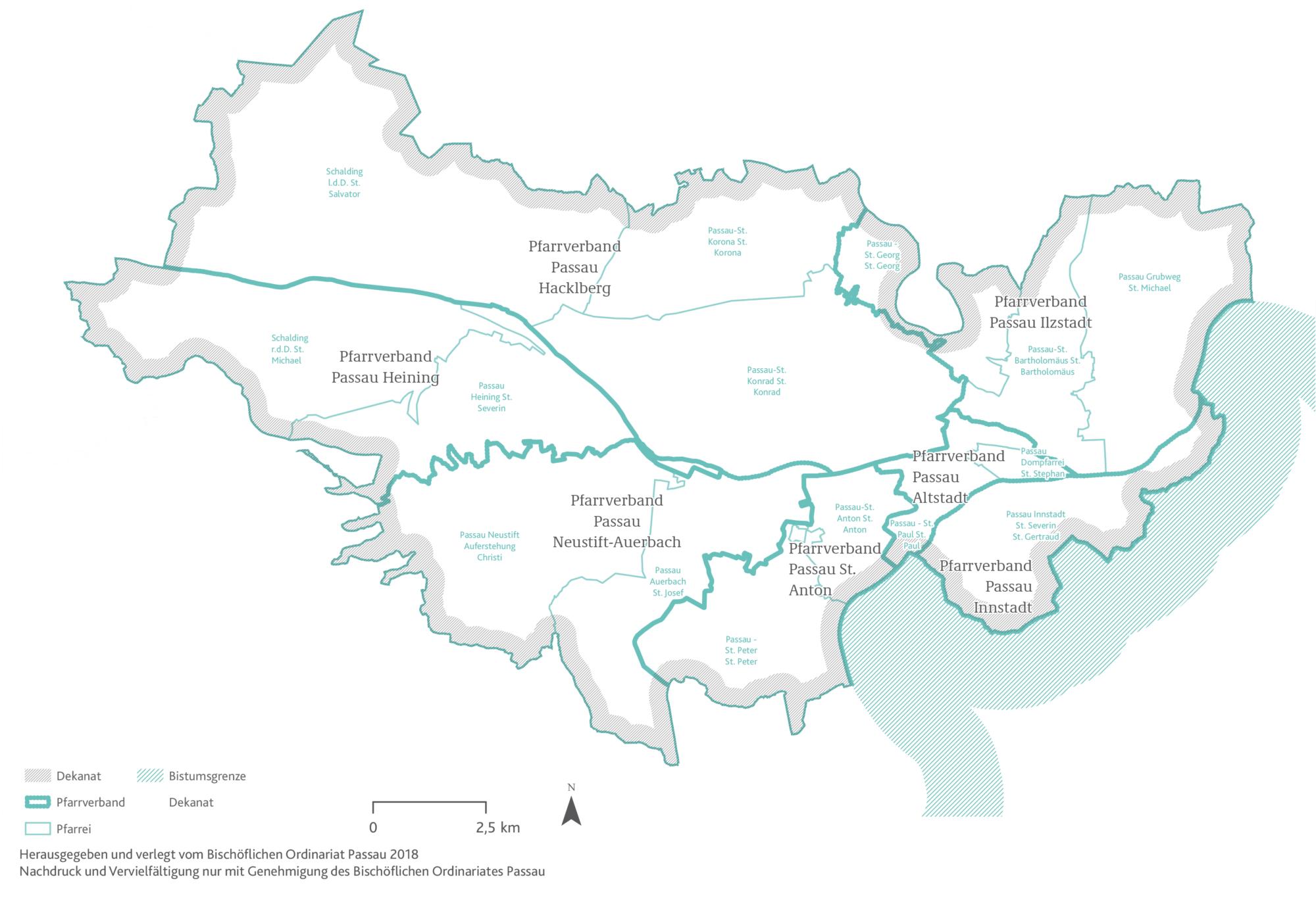 2021 Bistum Pfarreien Dekanate Passau