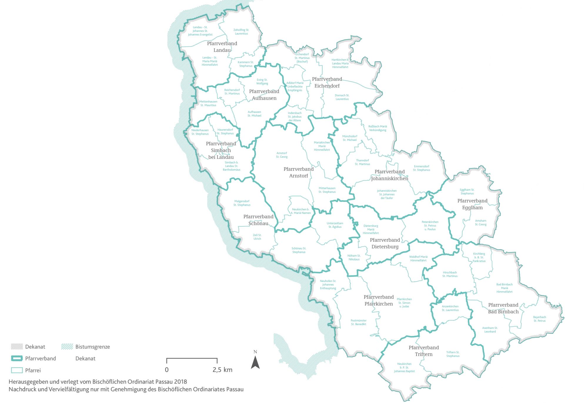 2021 Bistum Pfarreien Dekanate Pfarrkirchen