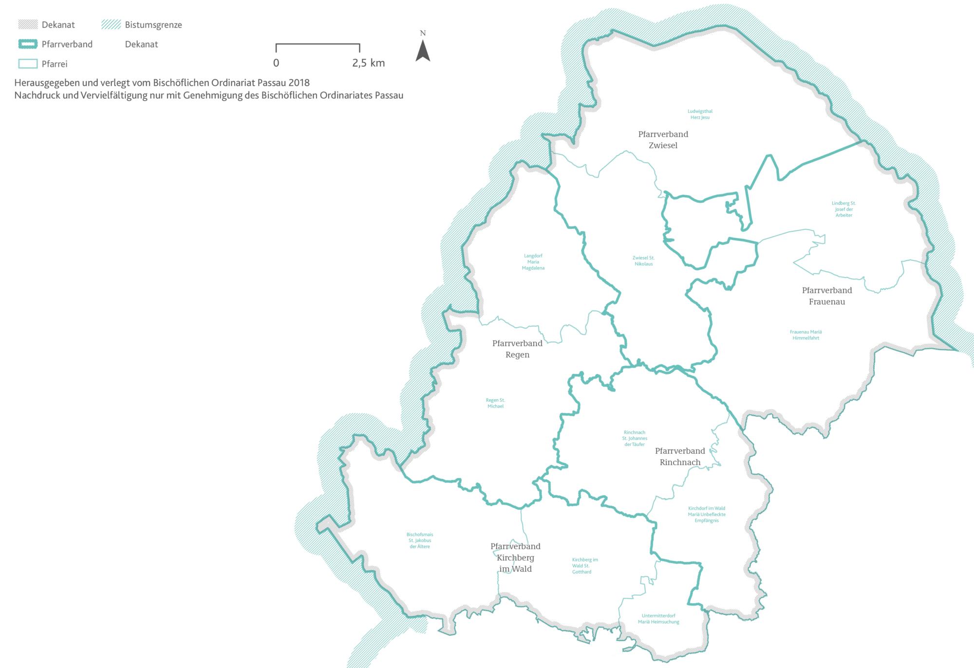 2021 Bistum Pfarreien Dekanate Regen