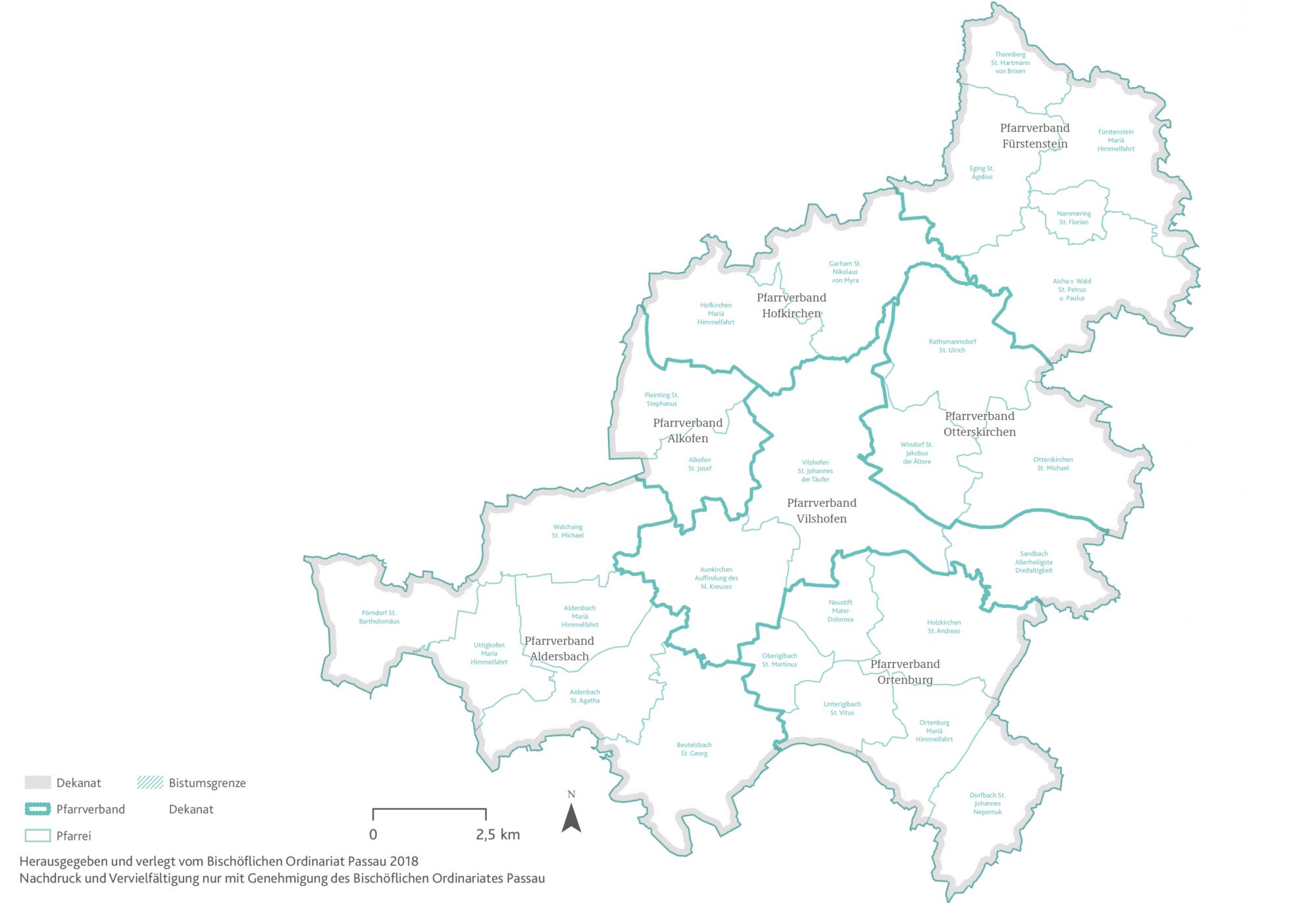 2021 Bistum Pfarreien Dekanate Vilshofen