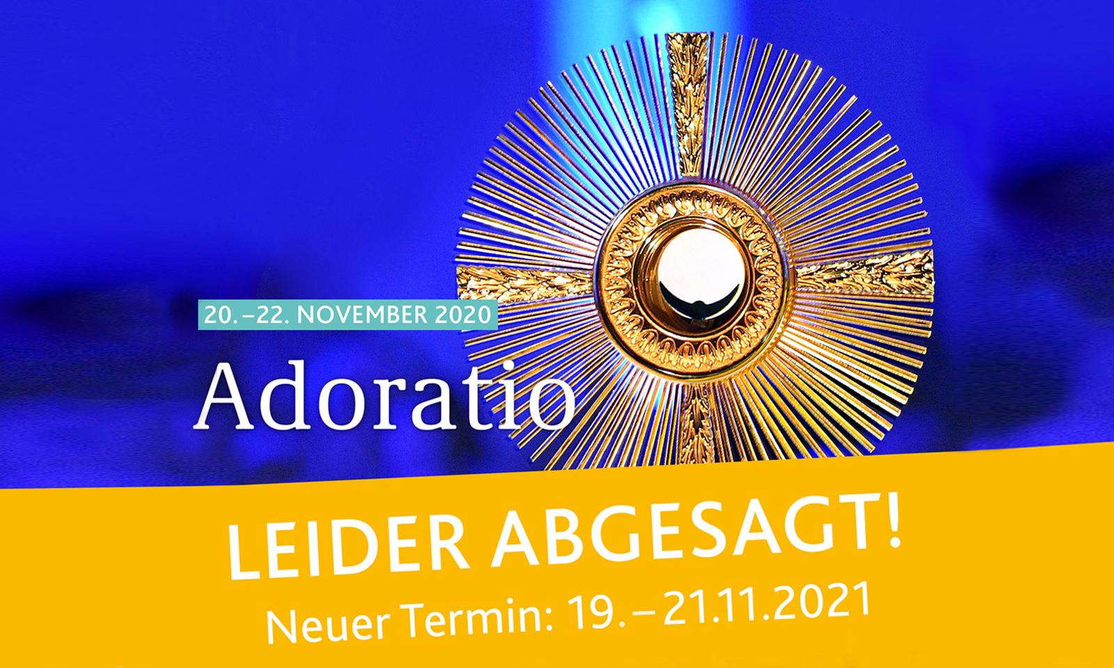 Adoratio 2020 abgesagt