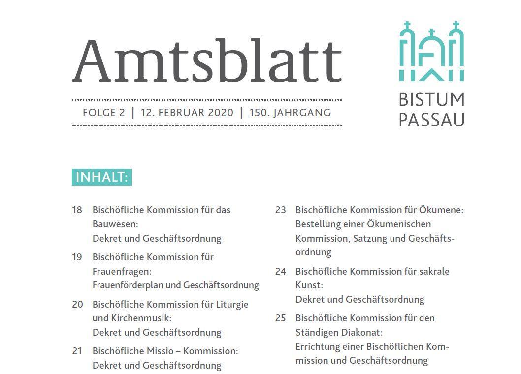 Amtsblatt Folge 2/2020