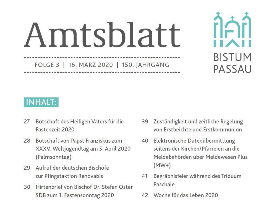 Amtsblatt Folge 3/2020