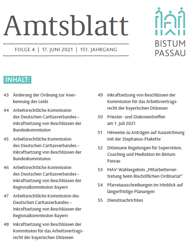 Amtsblatt Folge 4 2021
