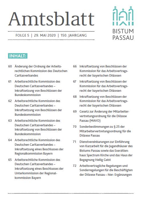 Amtsblatt Folge 5/2020