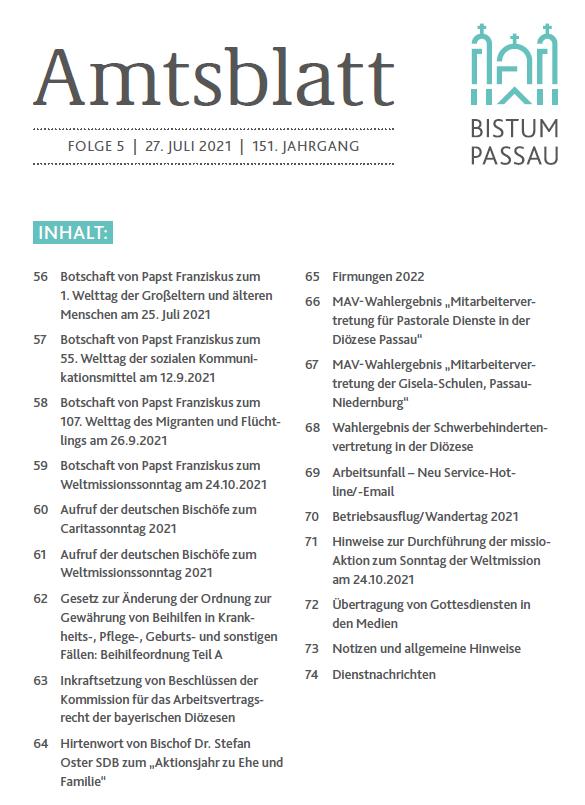 Amtsblatt Folge 5/2021