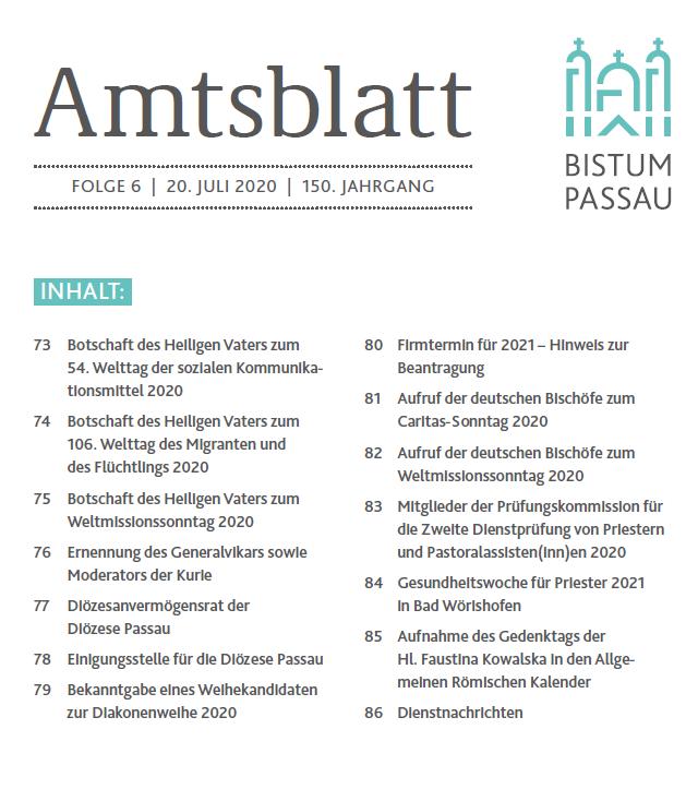 Amtsblatt Folge 6 2020