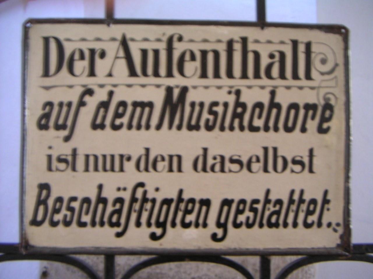 Aufenthalt-Musikchor