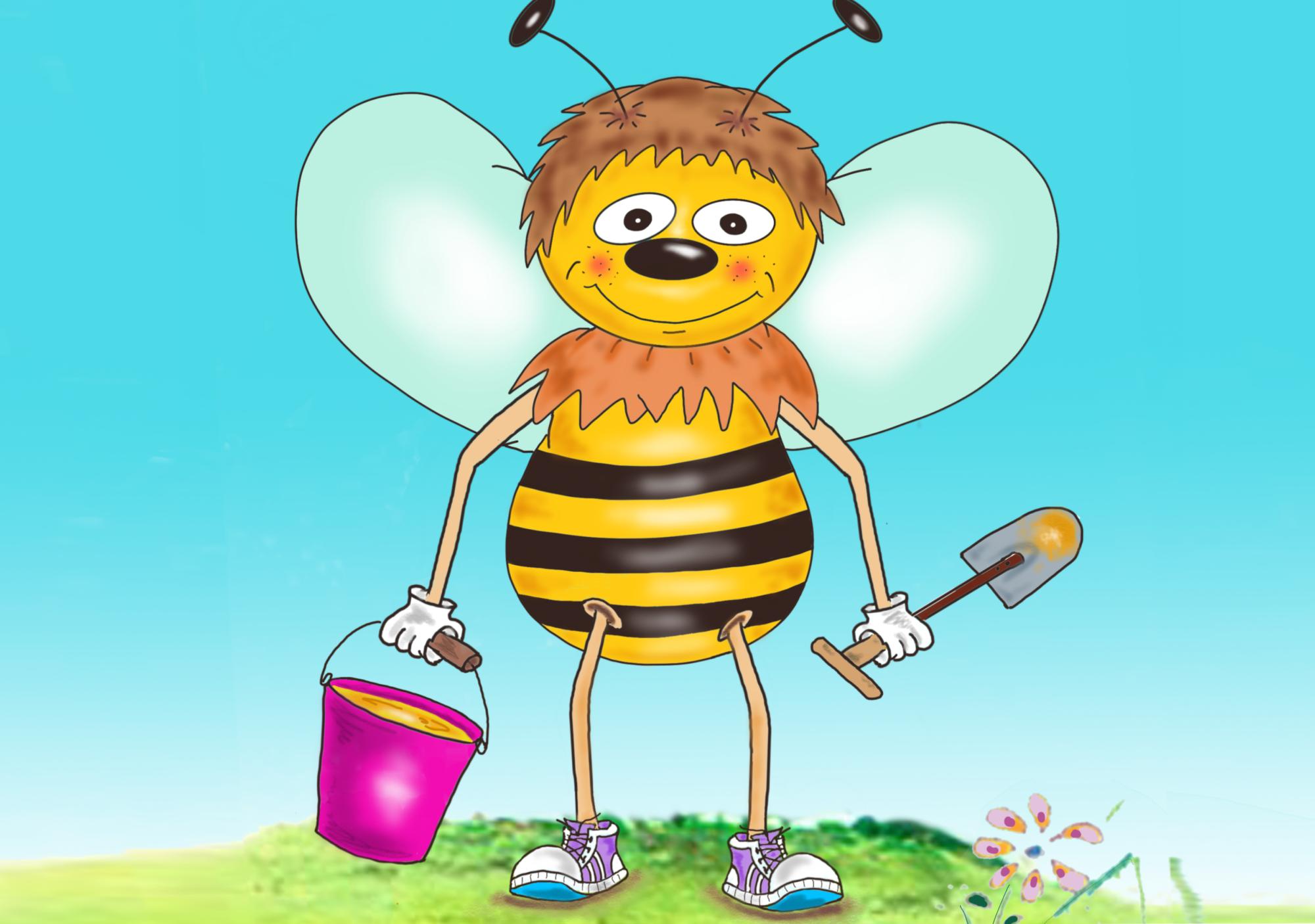 Biene Ausmalbild farb