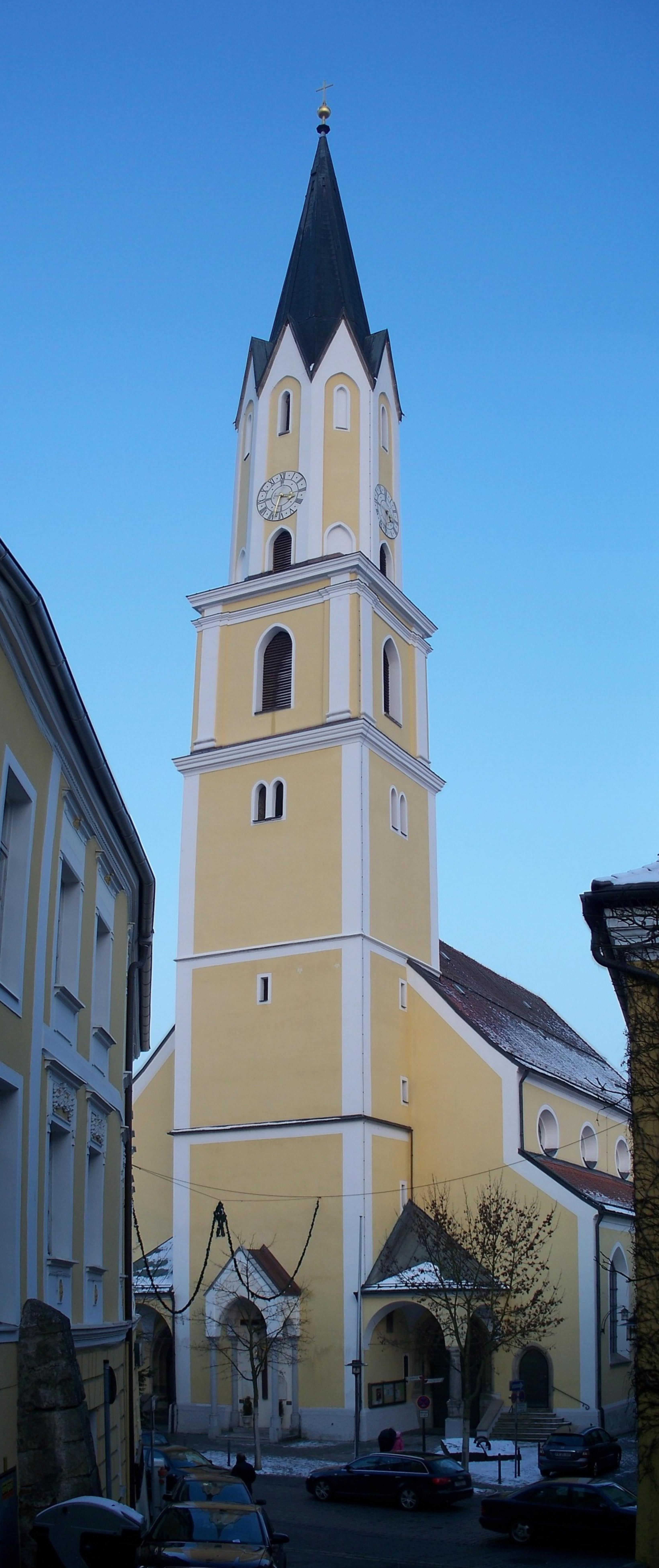 Church Sankt Johannes der TC3 A4ufer in Vilshofen an der Donau