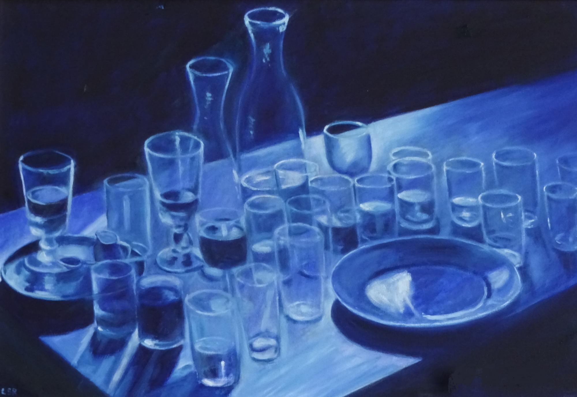Coler Peter, Aperitif in blau
