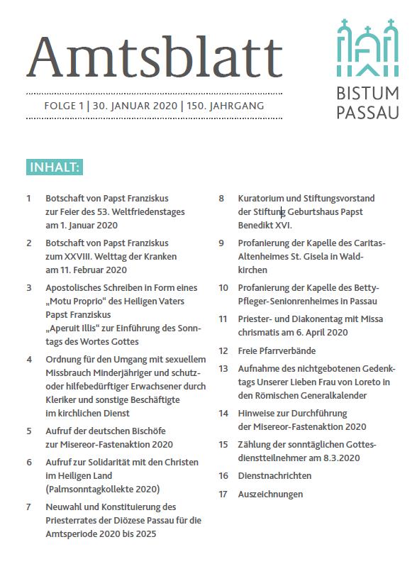 Amtsblatt Folge 1/2020