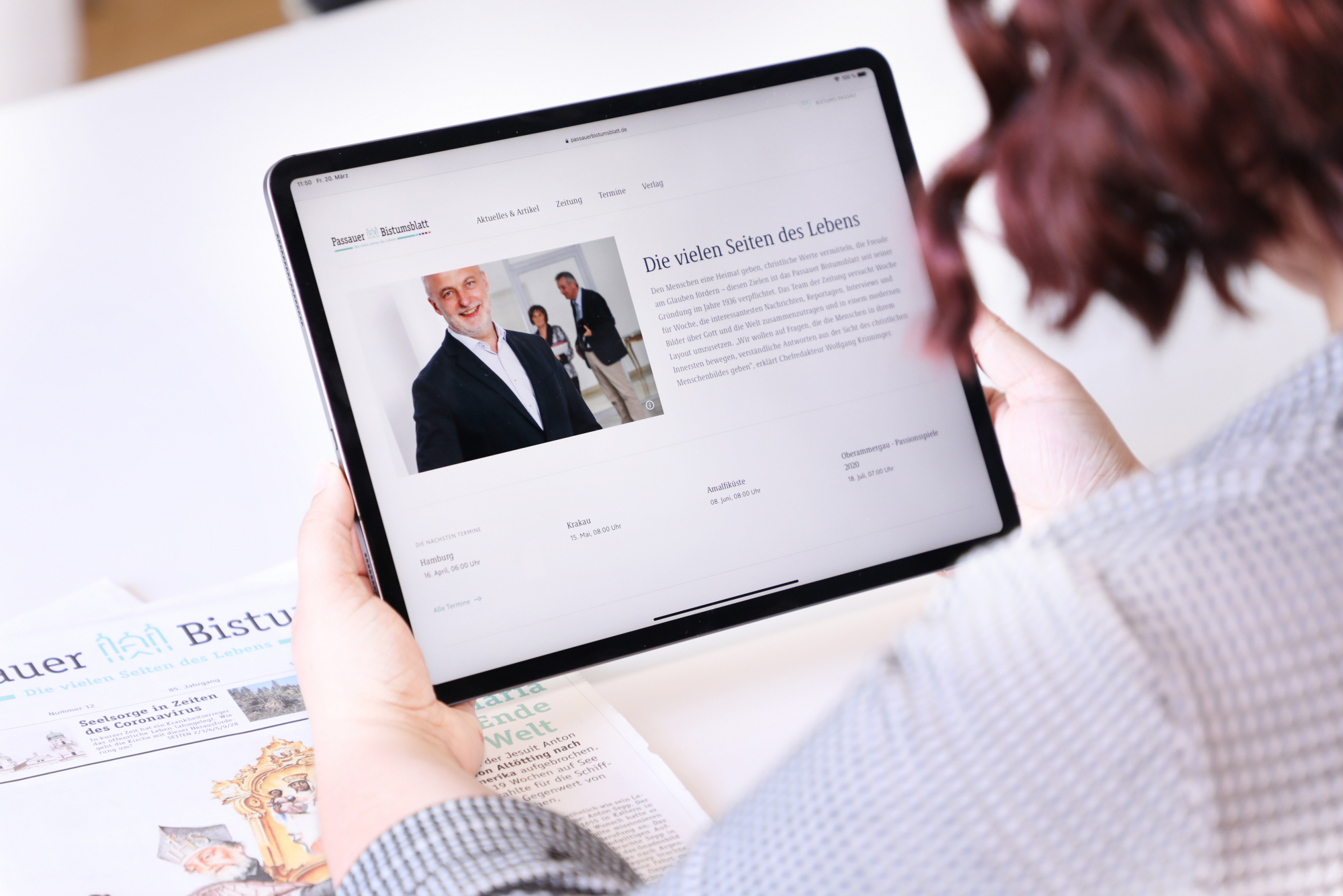 Foto Bistumsblatt Leserin digital