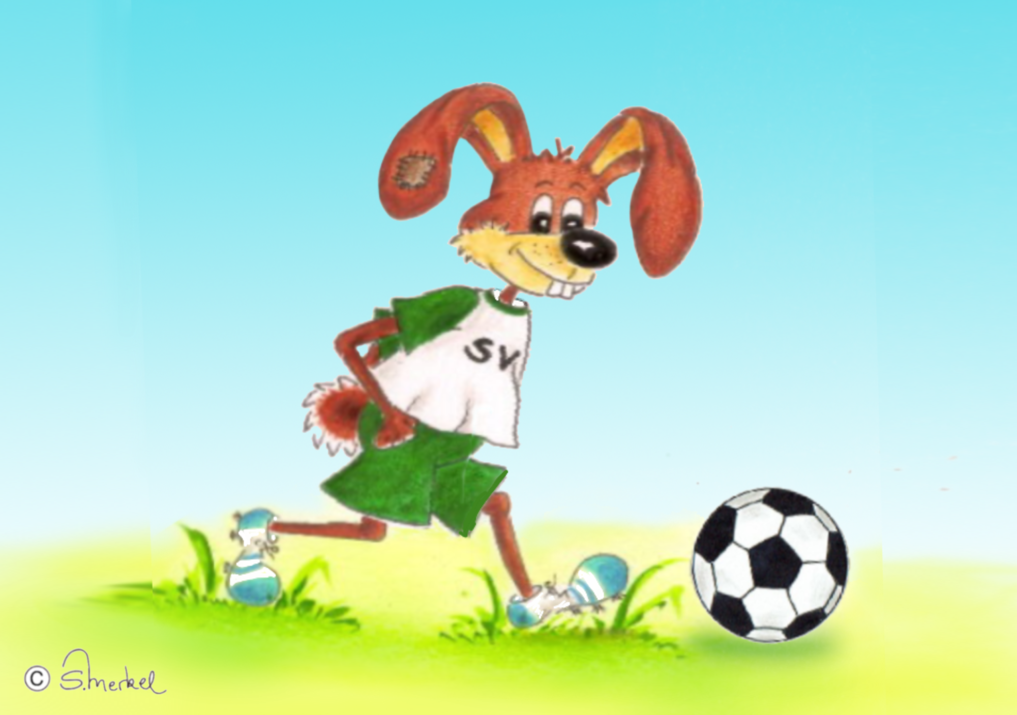 Fußball LZ Ausmalbild Farb