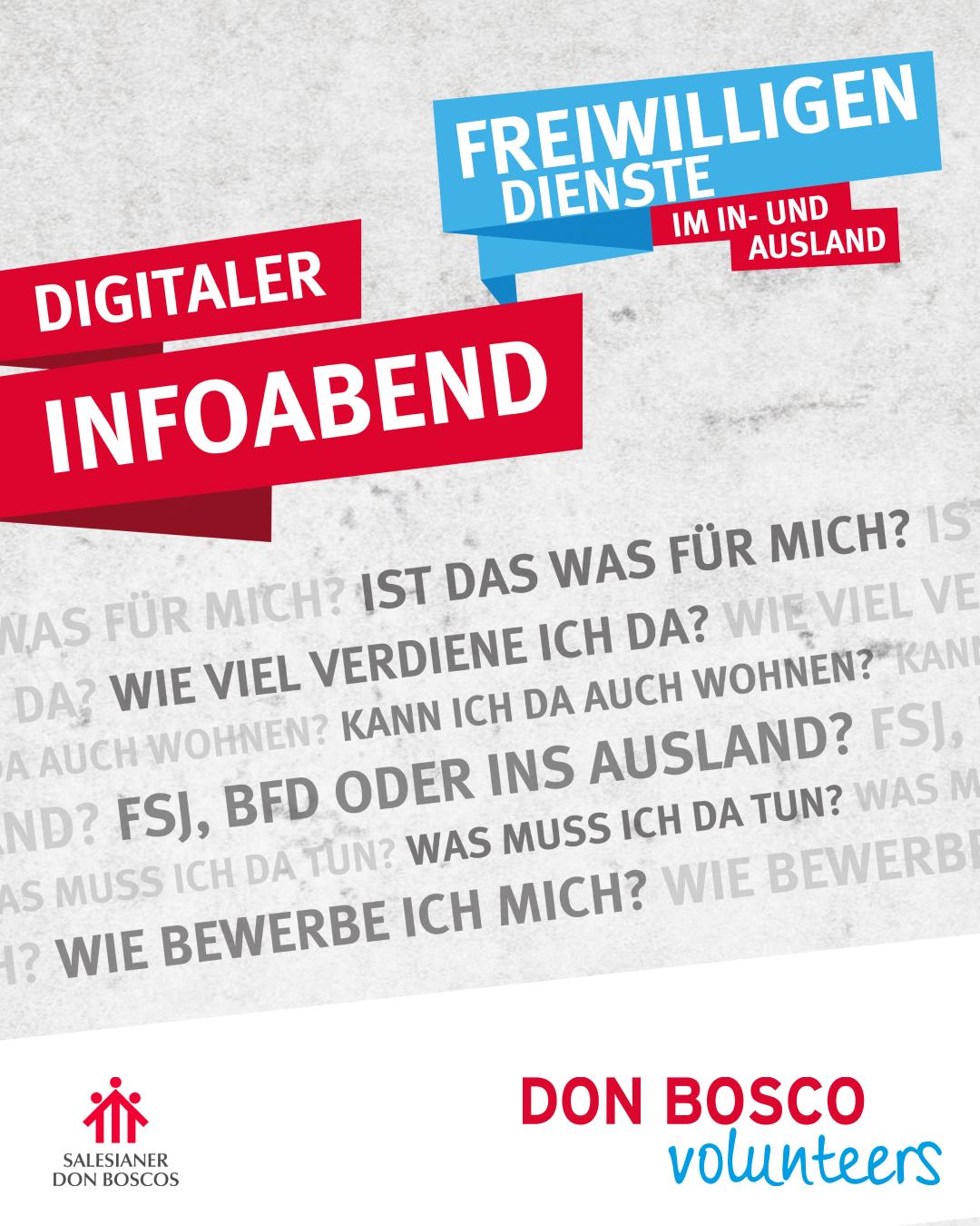 Digitalter Infoabend Don Bosco Volunteers