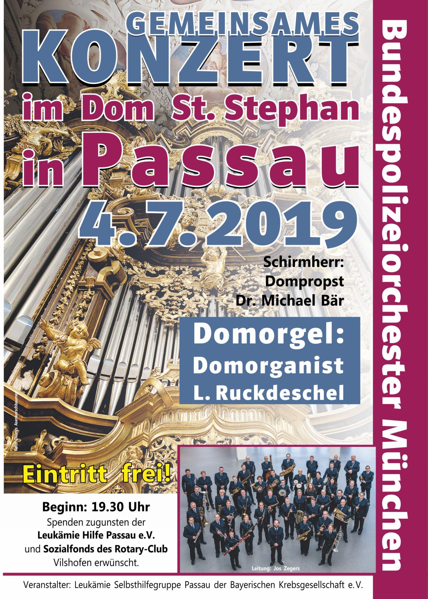 Leukämiehilfe-Plakat-Orgelkonzert