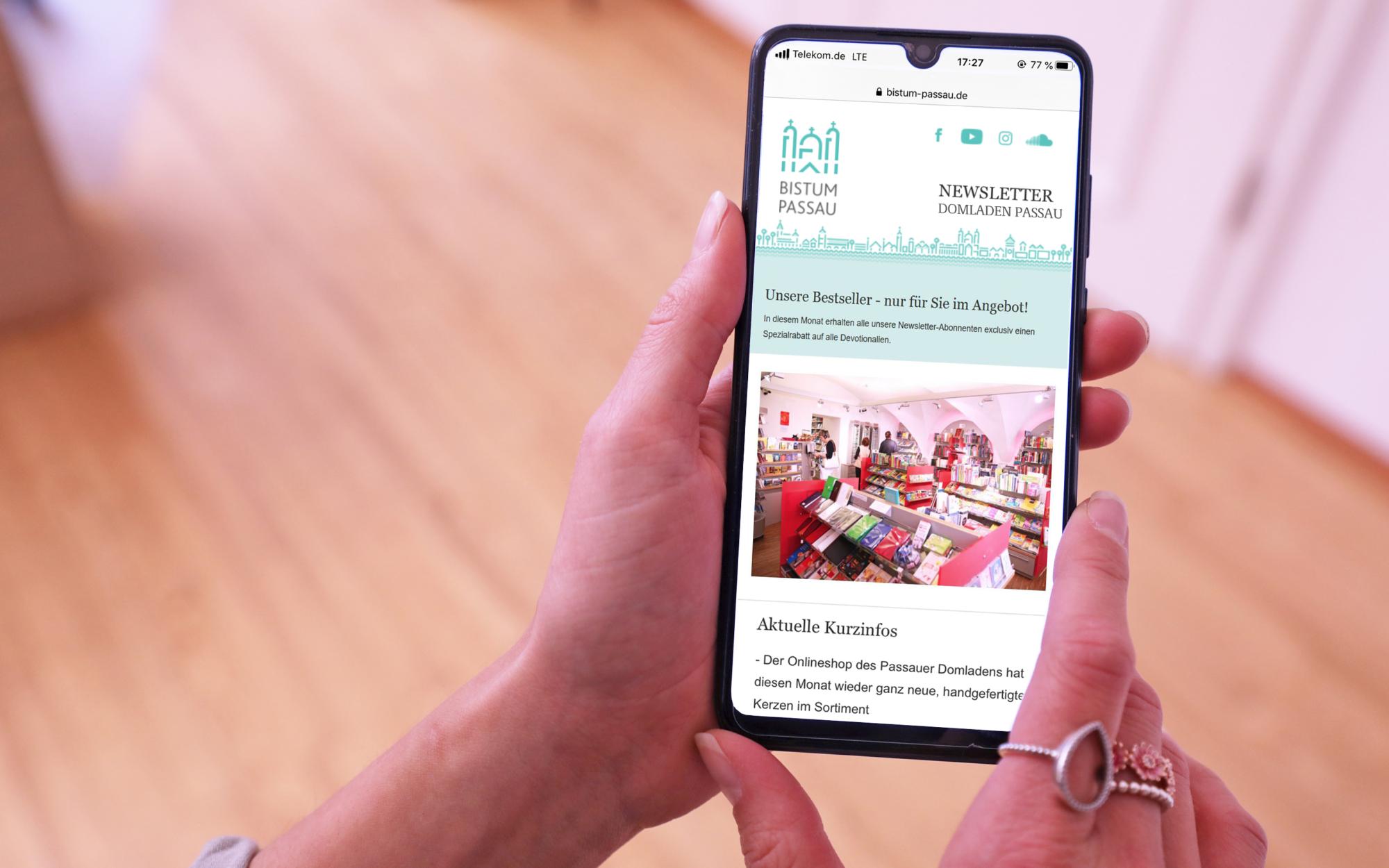 Newsletter Smartphone Domladen