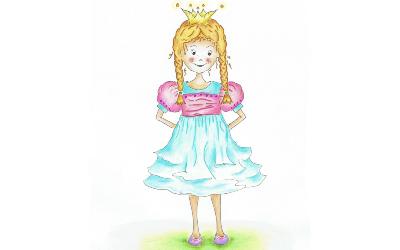 Prinzessin N Ausmalbild farbig