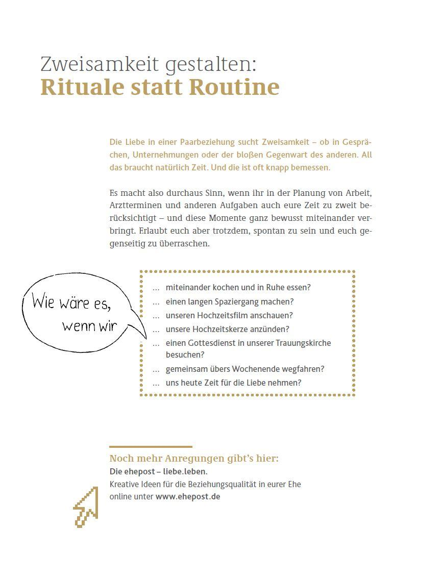 Rituale statt Routine