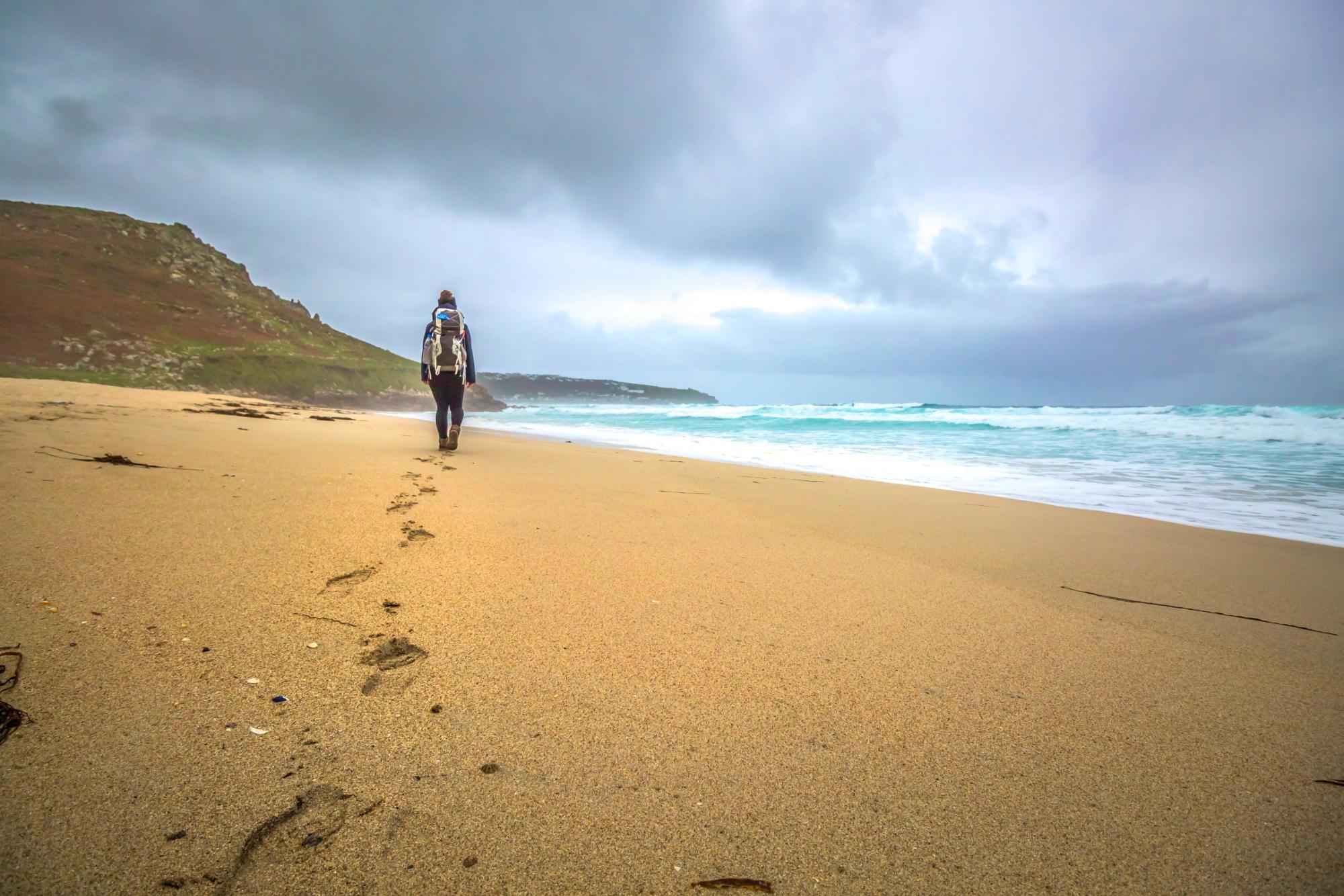 Spuren im Sand groß fotos hf