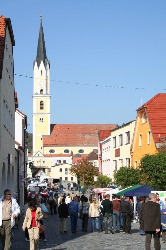 Vilsvorstadt und Stadtpfarrkirche