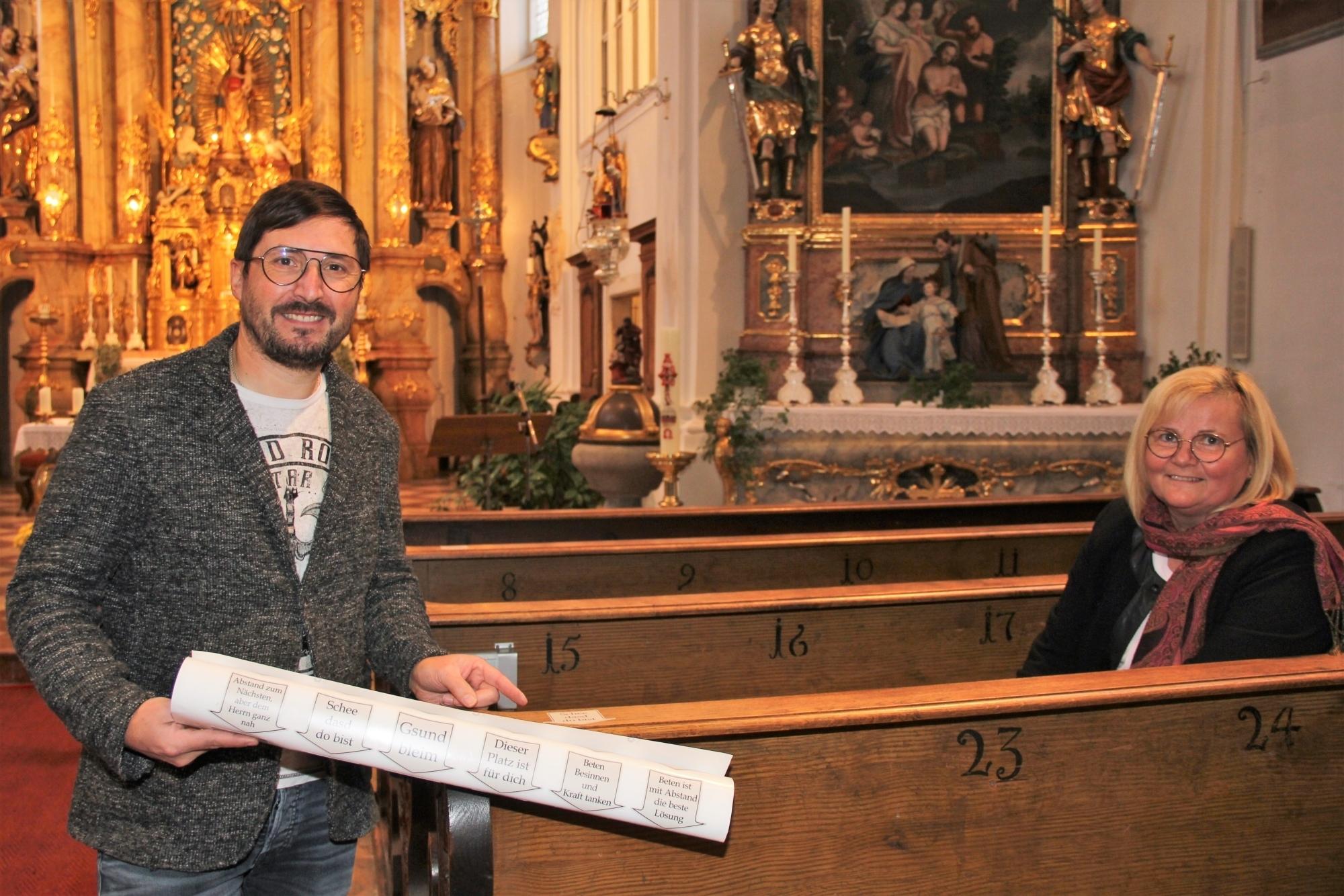 Bp BB Originelle Corona Hinweise Pfarrkirche Mariakirchen Mesnerin 06 11 2020 9