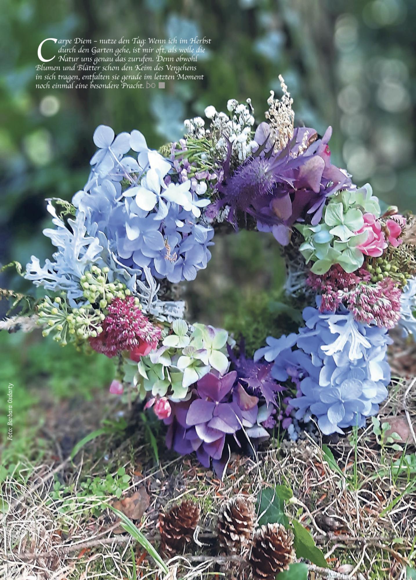 Rückseite Blumenkranz