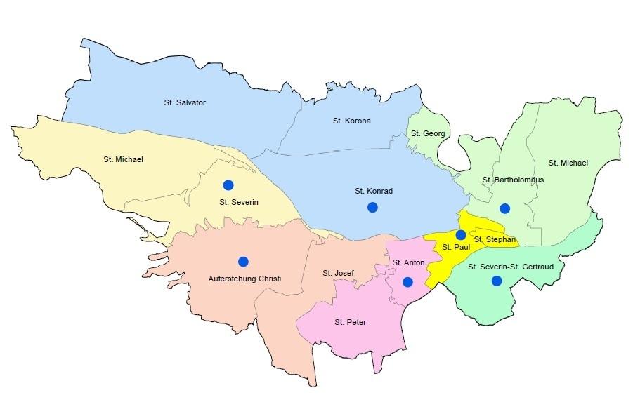 Dekanatskarte Passau