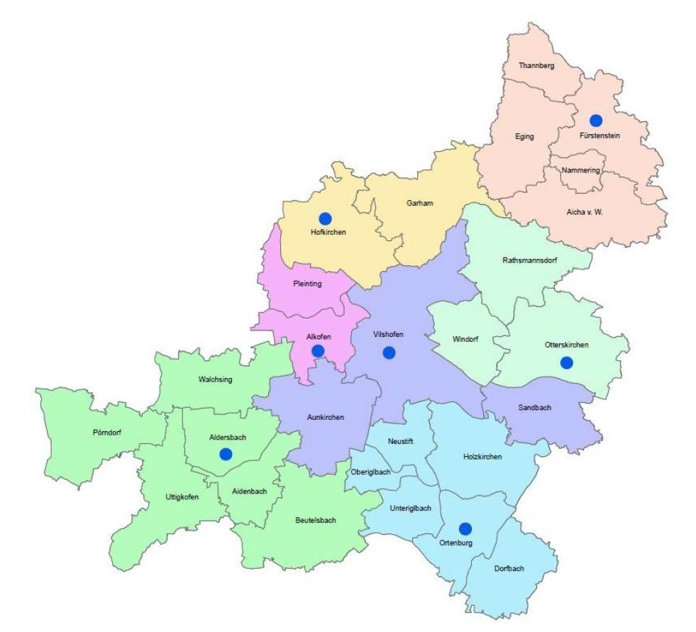 Dekanatskarte Vilshofen