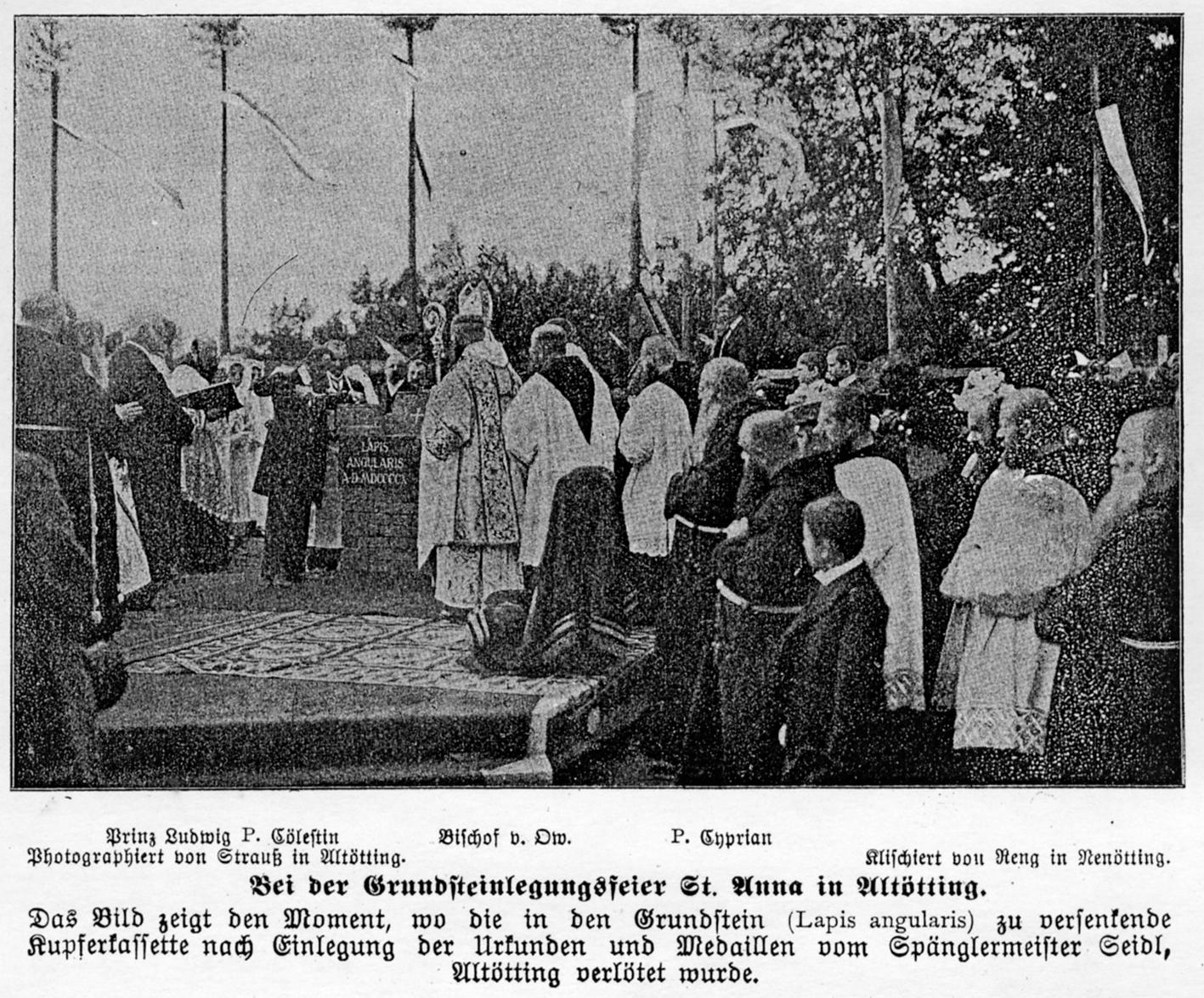 2020 125 jahre aoelfb grundsteinlegung basilika august1910
