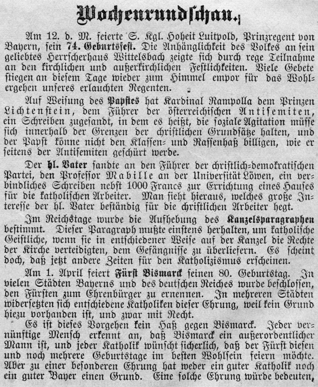 2020 125 jahre aoelfb wochenrundschau bismarck nr11 17maerz1895