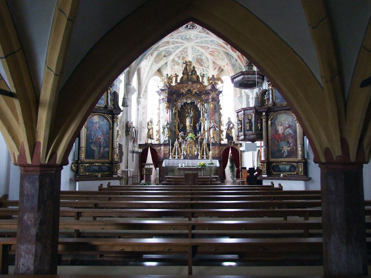 2021 05 17 aoelfb niedergottsau kirche mariae himmelfahrt blick in kirche