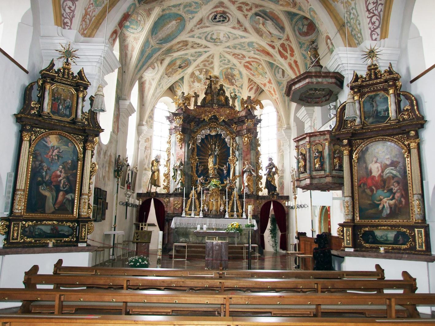 2021 05 17 aoelfb niedergottsau kirche mariae himmelfahrt blick in kirche2