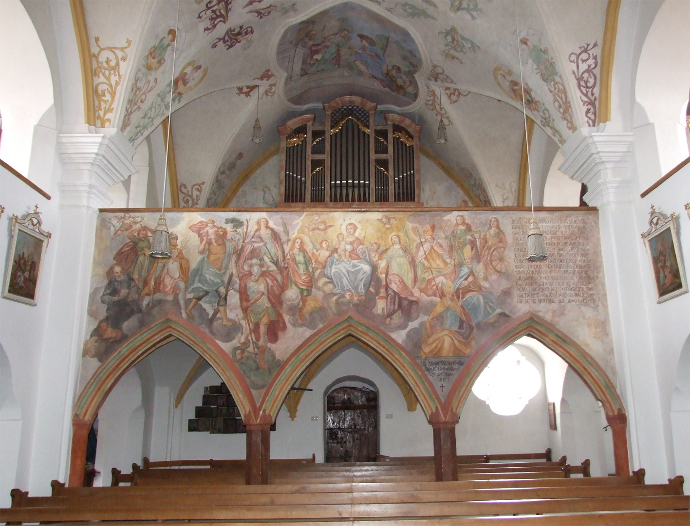 2021 05 17 aoelfb niedergottsau kirche mariae himmelfahrt orgelempore