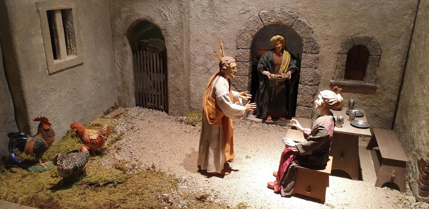 SPJ Jahreskrippe Jesus Bei Maria Und Martha
