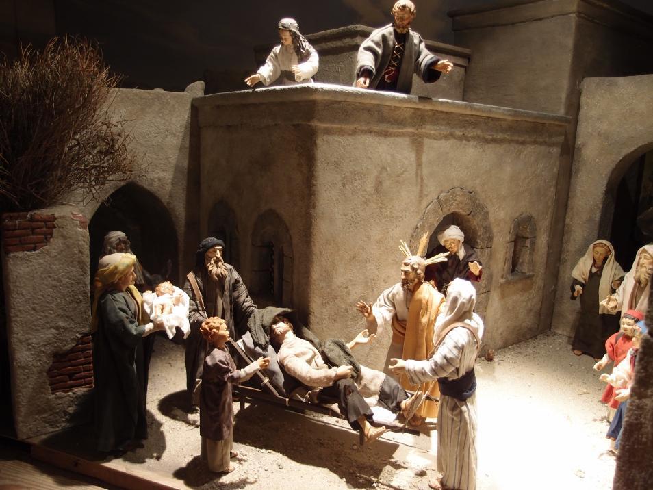 SPJ Jahreskrippe Jesus Heilt Kranken