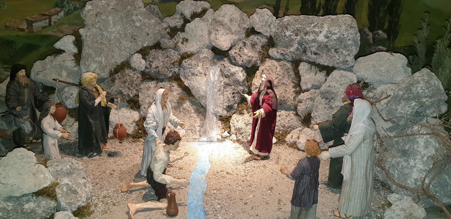 SPJ Jahreskrippe Moses Wasser Aus Felsen
