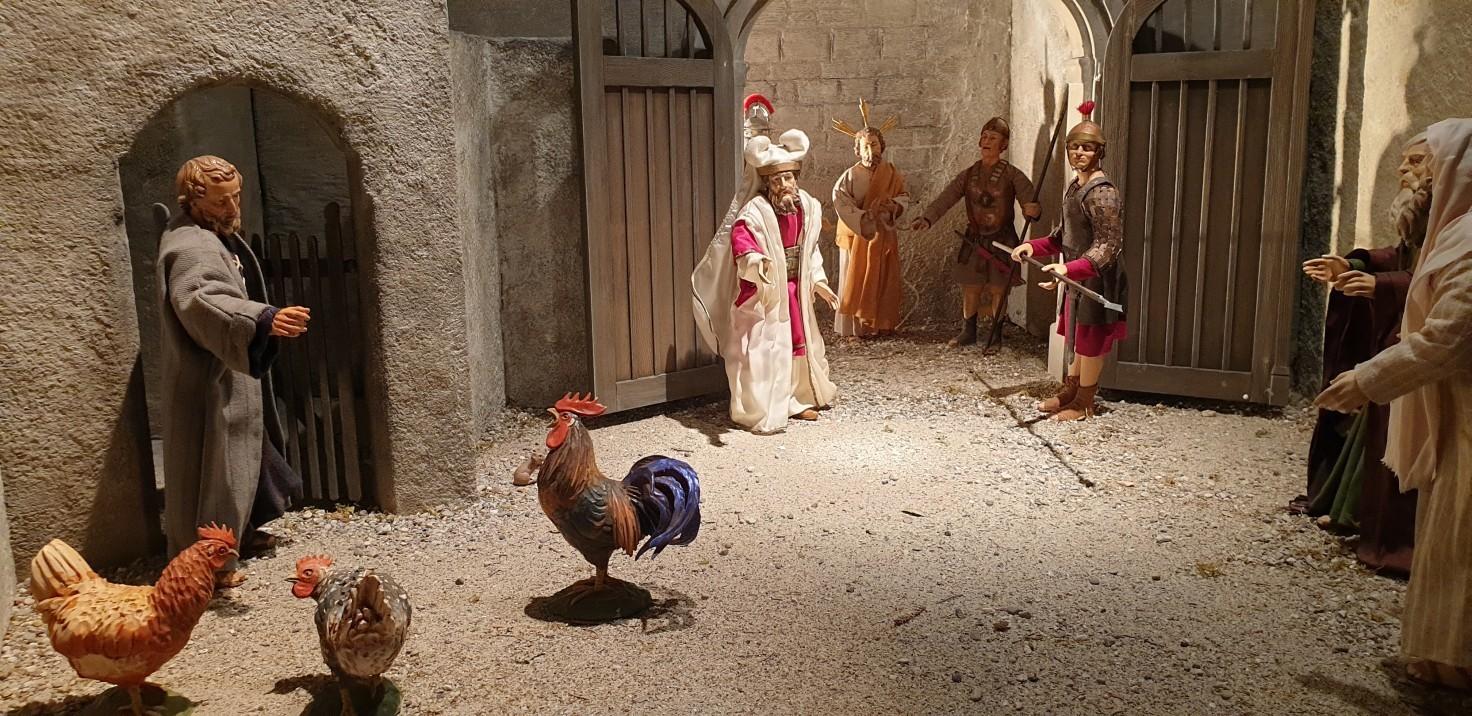 SPJ Jahreskrippe Petrus Verleugnet Jesus