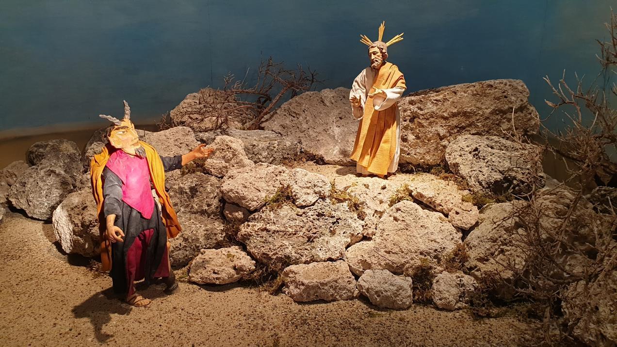 SPJ Jahreskrippe Versuchung Jesu