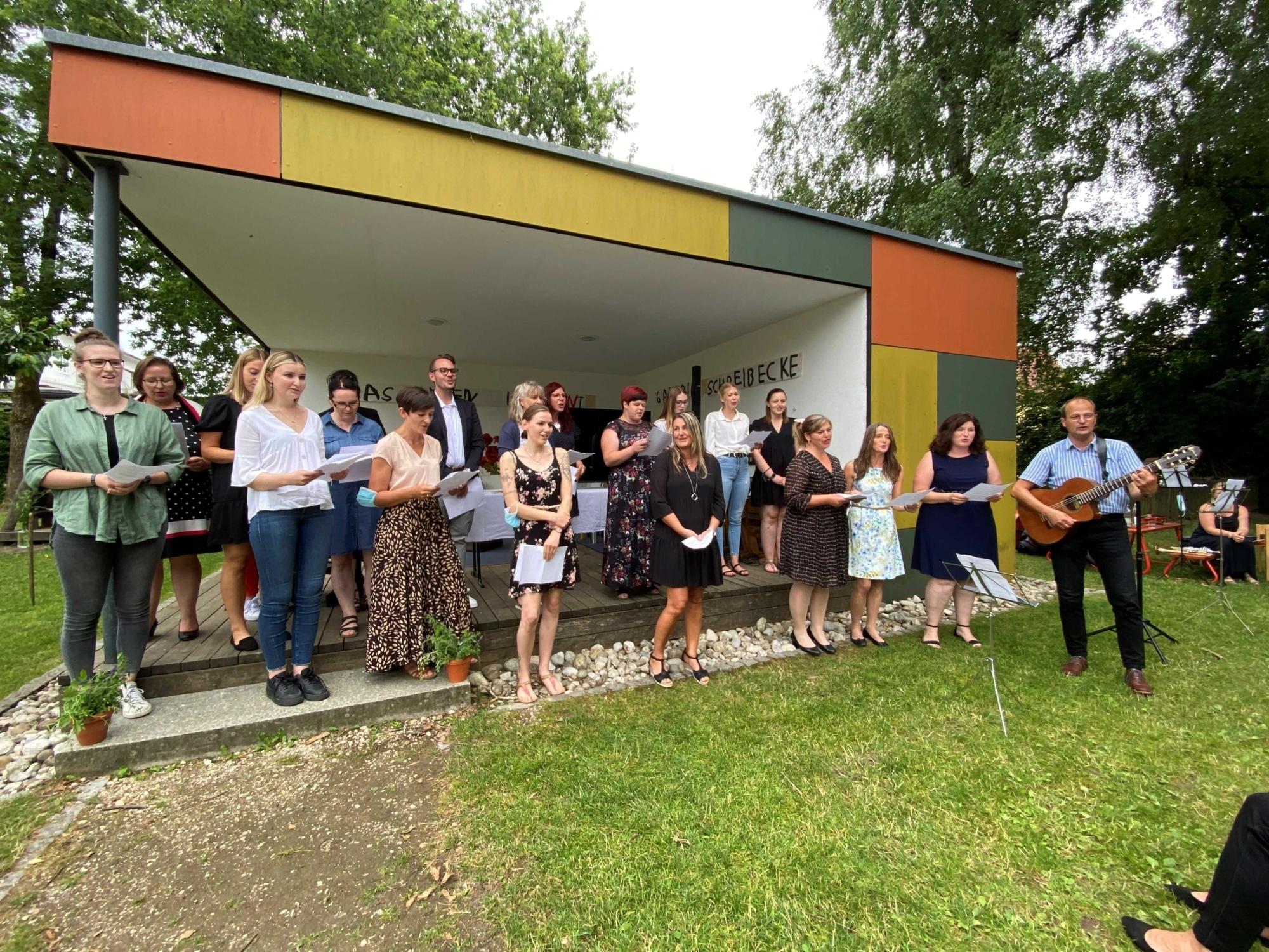 2021 07 Juli 07 Verabschiedung von Fr Maria Brams Kindergartenleitung St Konrad 1