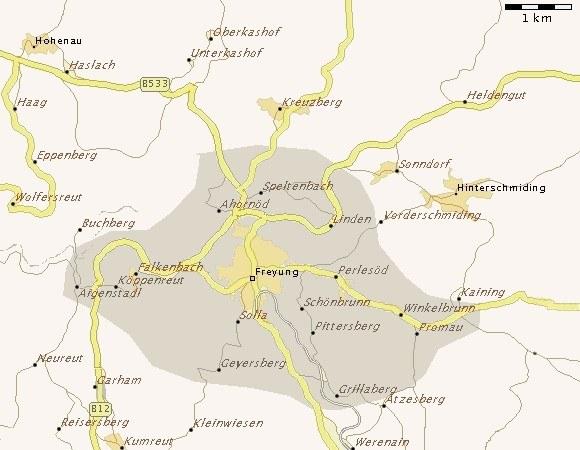 Karte-Pfarrei-Freyung