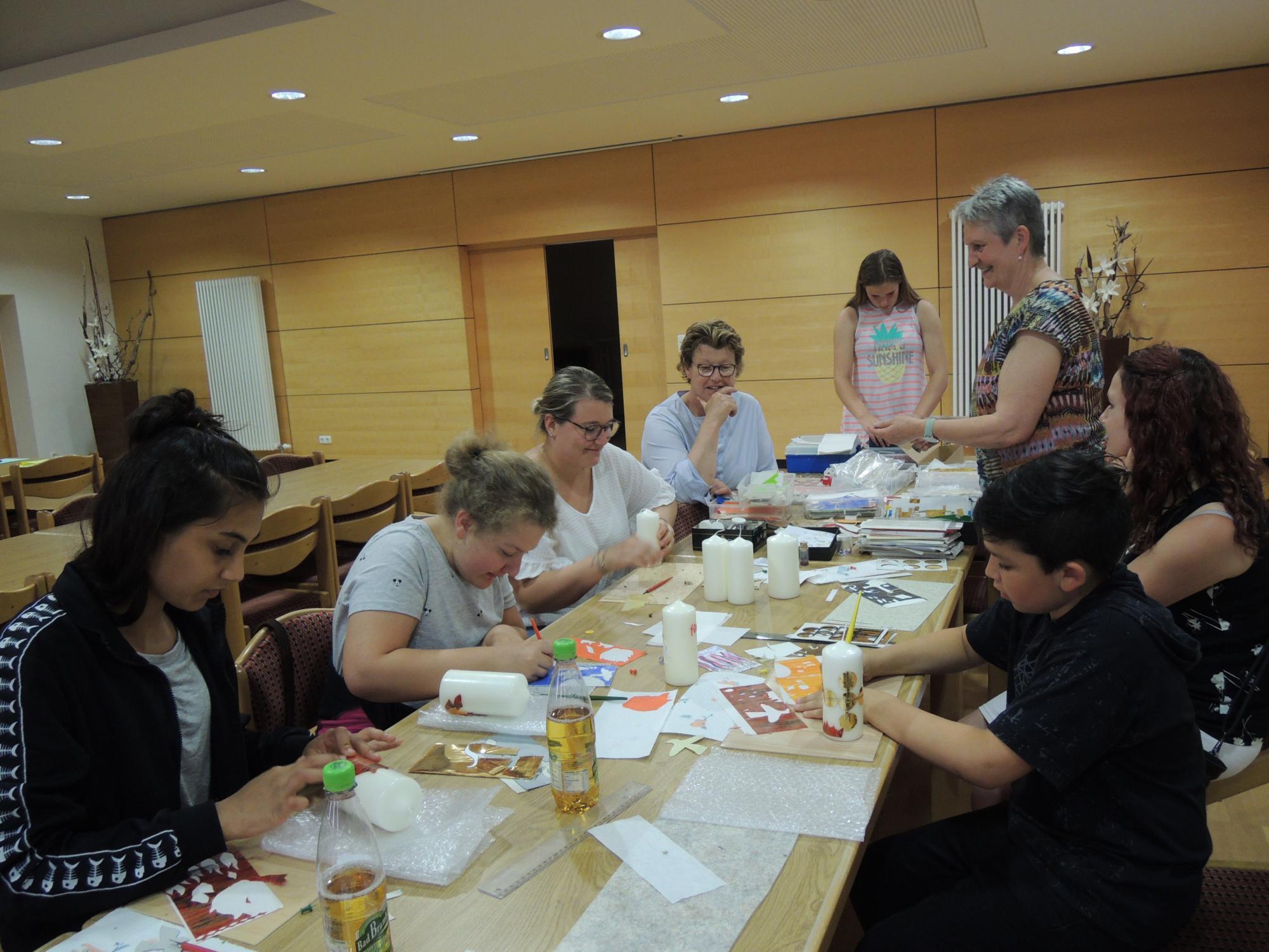 Workshop-Kerzenbasteln