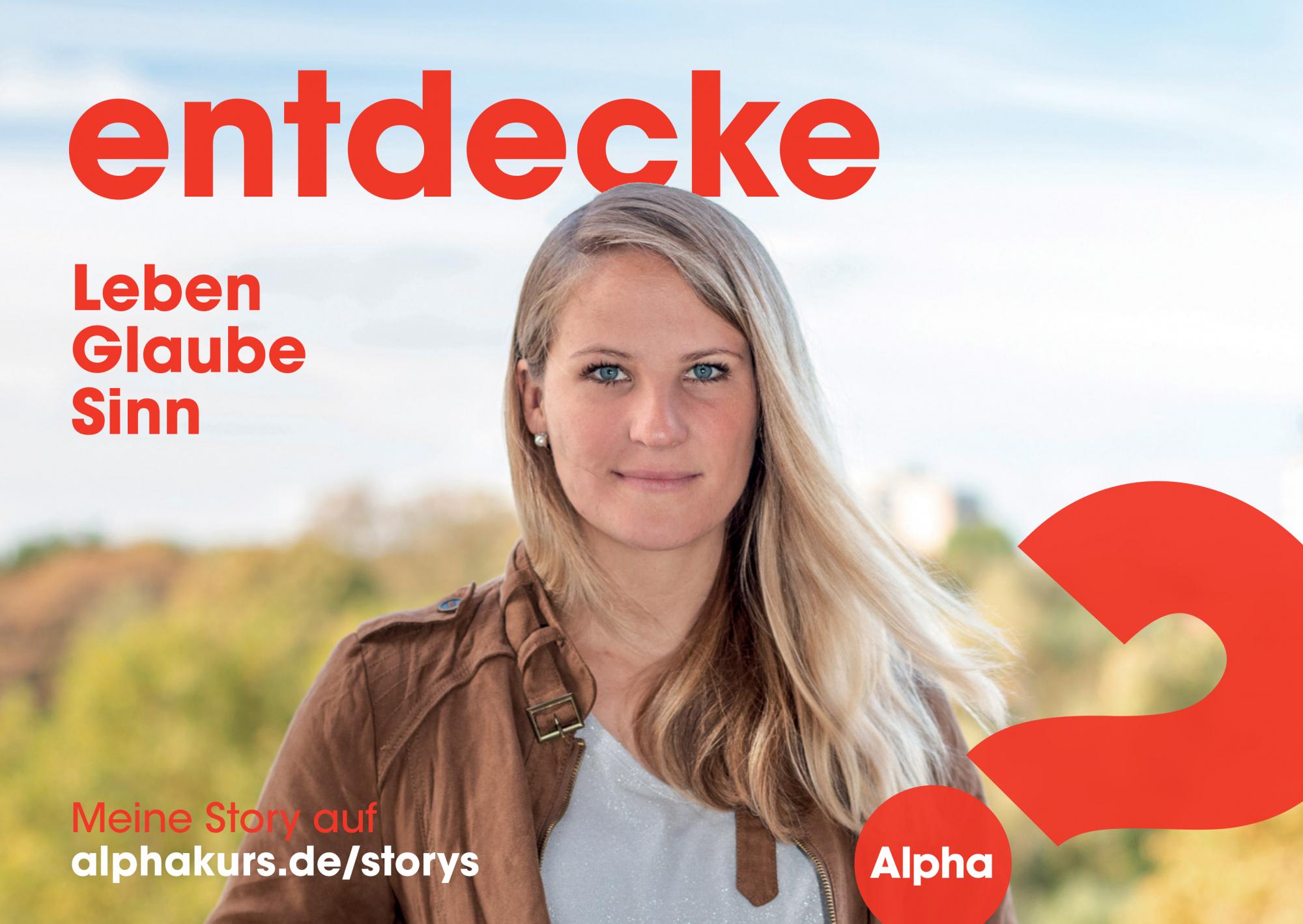 2020 1 Postkarte A6 Alpha Kampagne Hero Janina Vorderseite