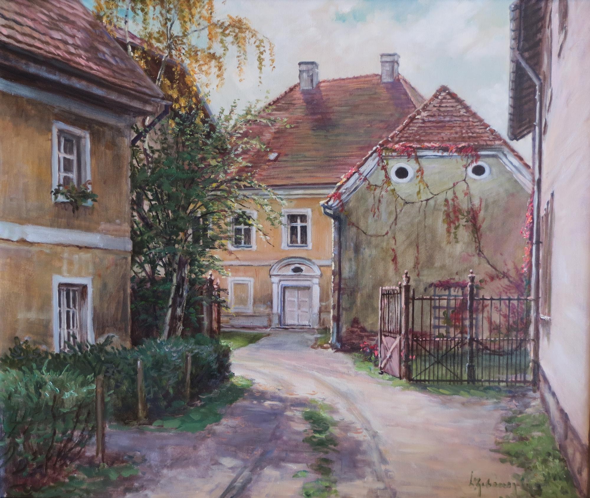 Pocking Pfarrhof Gemälde zugeschnitten